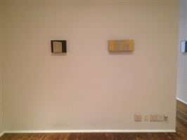 in daylight small paintings: installation view: kazimira rachfal [from right to left] checklist numbers 19. and 20.
